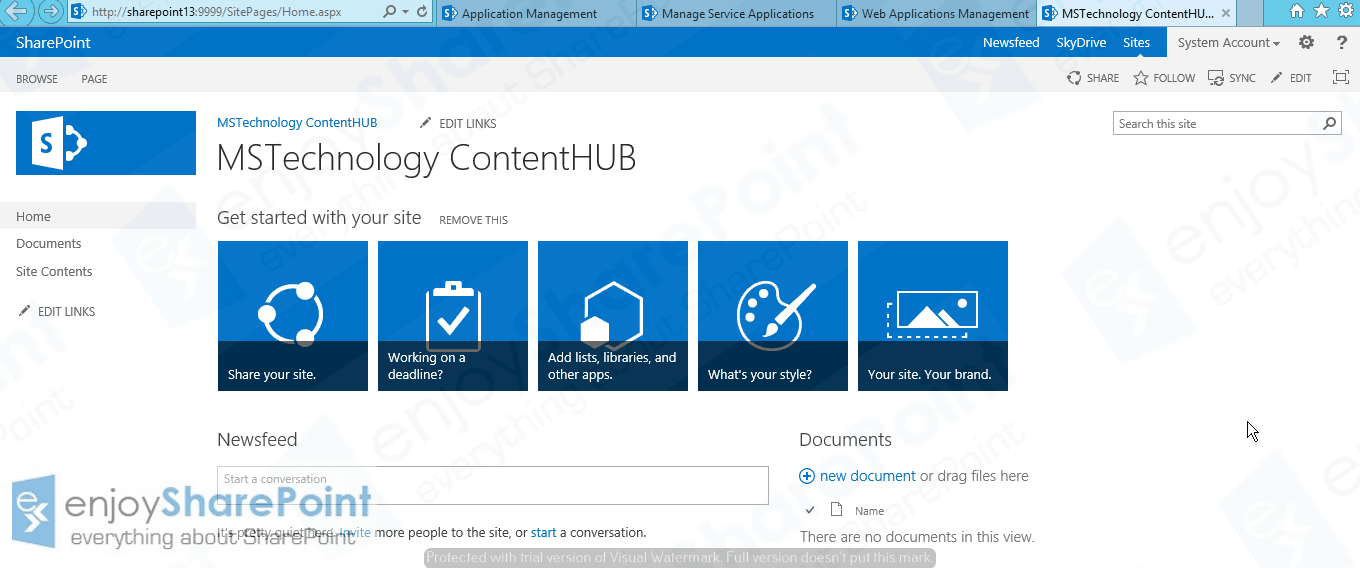 content type hub sharepoint online