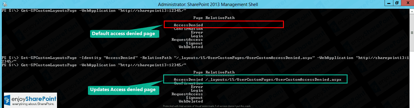 create custom access denied page sharepoint 2013