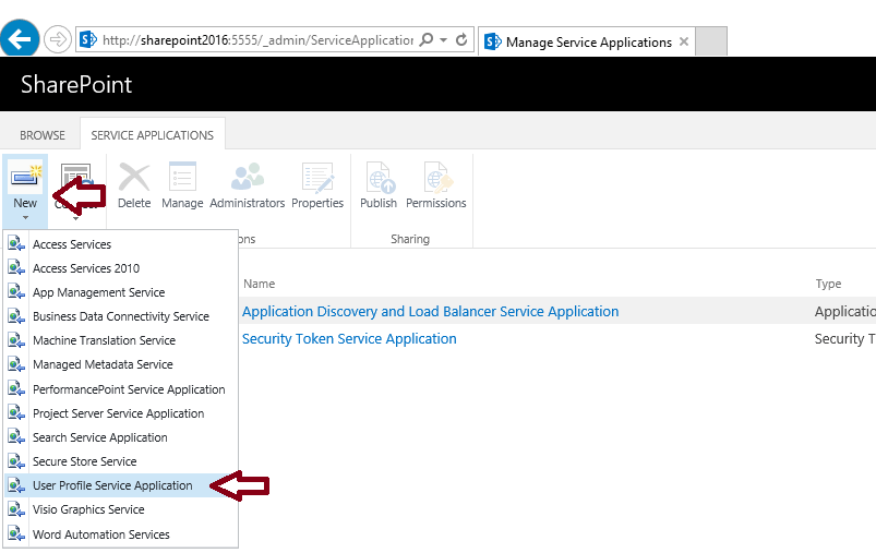 user profile service sharepoint 2016 step by step