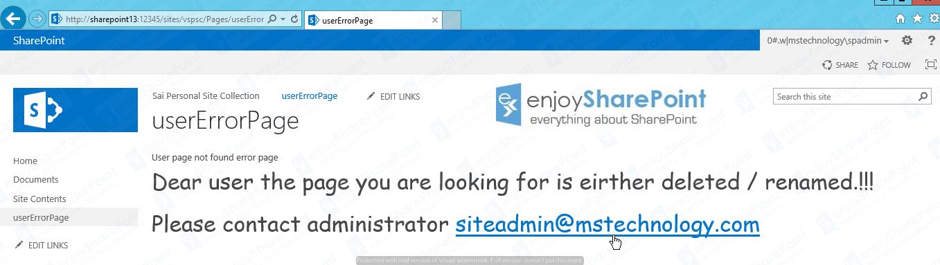 custom filenotfound error page Tutorial
