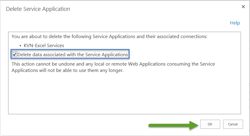delete corrupt service application sharepoint 2016