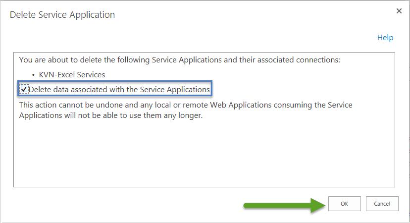delete corrupt service application sharepoint 2016