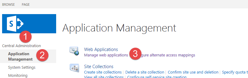 extending web application sharepoint 2016