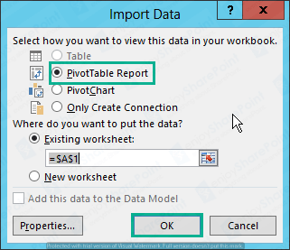 generate pivot table in excel sharepoint 2013