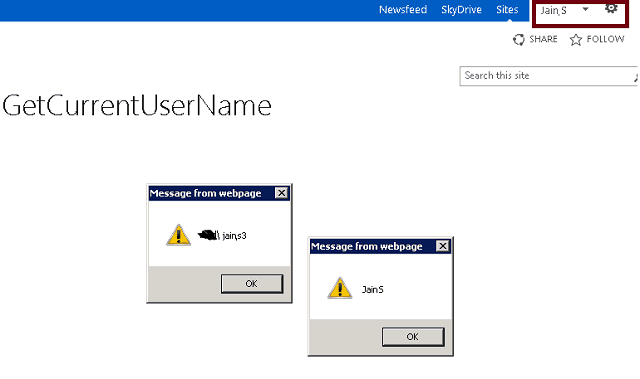 SharePoint 2013 get logged in user display name Rest API