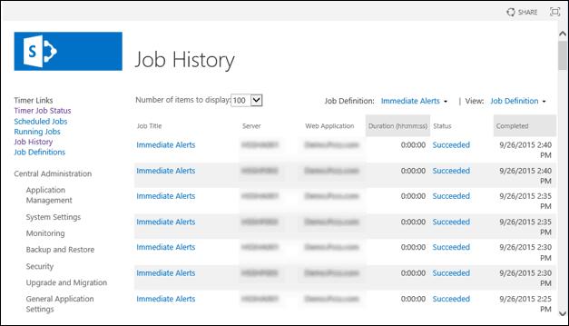 sharepoint get timer job status powershell