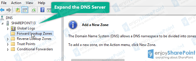 how to configure forward and reverse lookup zones in dns