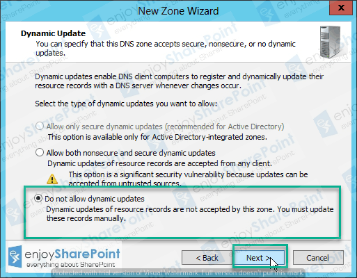 how to create a new zone on a dns server in windows server 2012