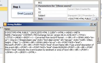sharepoint designer workflow html email