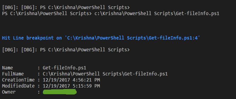 how to debug powershell script using visual studio code