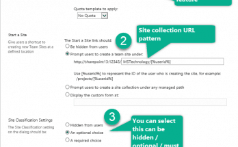 how to enable self service site creation in sharepoint 2013