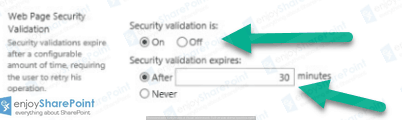 sharepoint security validation