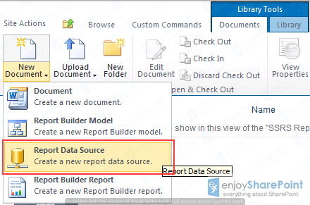 sharepoint 2010 report data source content type