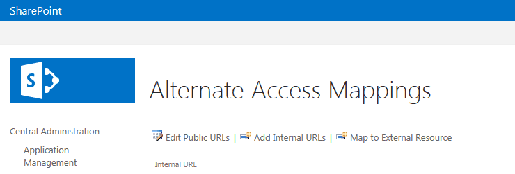 how to configure alternate access mapping in sharepoint 2013