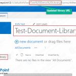 sharepoint 2013 change library url powershell