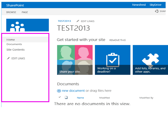 sharepoint 2013 hide left navigation permission based jquery css