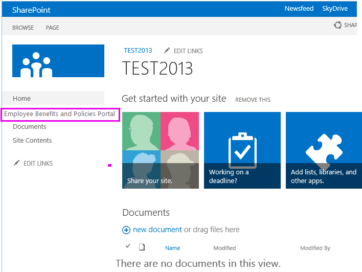 sharepoint 2013 hide left navigation permission based