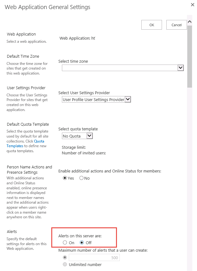 sharepoint 2013 immediate alerts not working