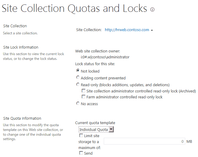 make sharepoint site collection read only