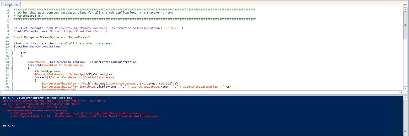 get content database for site collection powershell