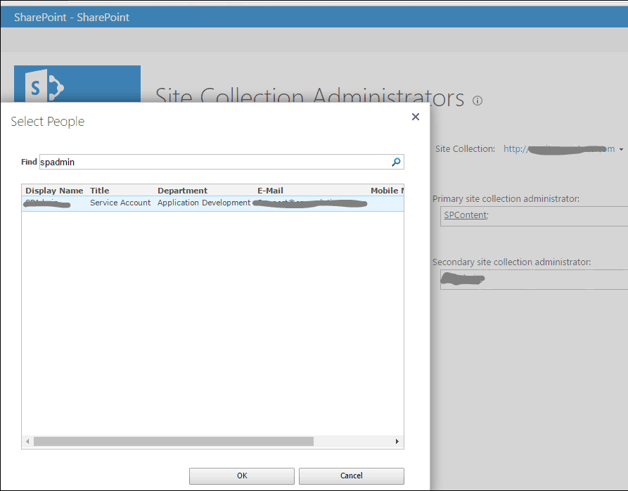 change site collection administrator sharepoint 2019