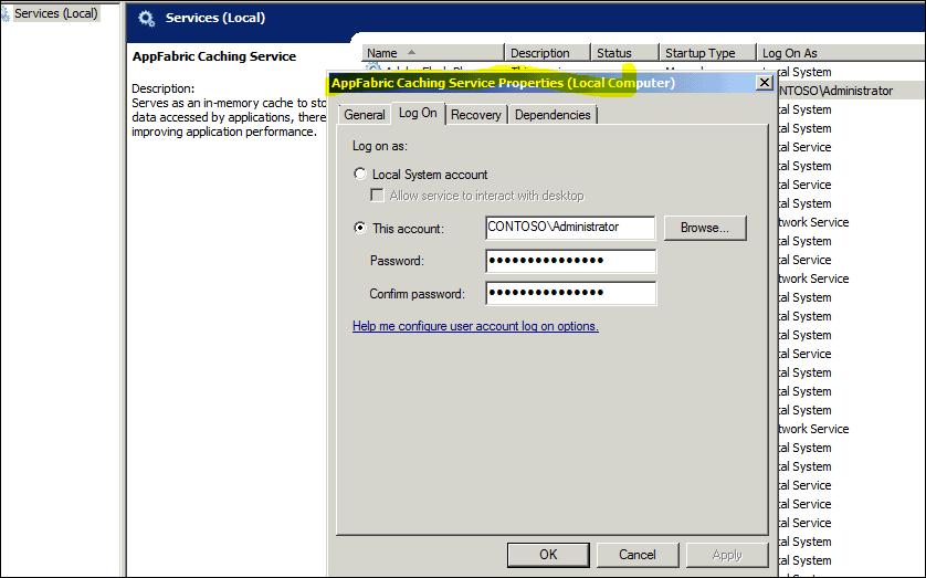 sharepoint AppFabric Cache error