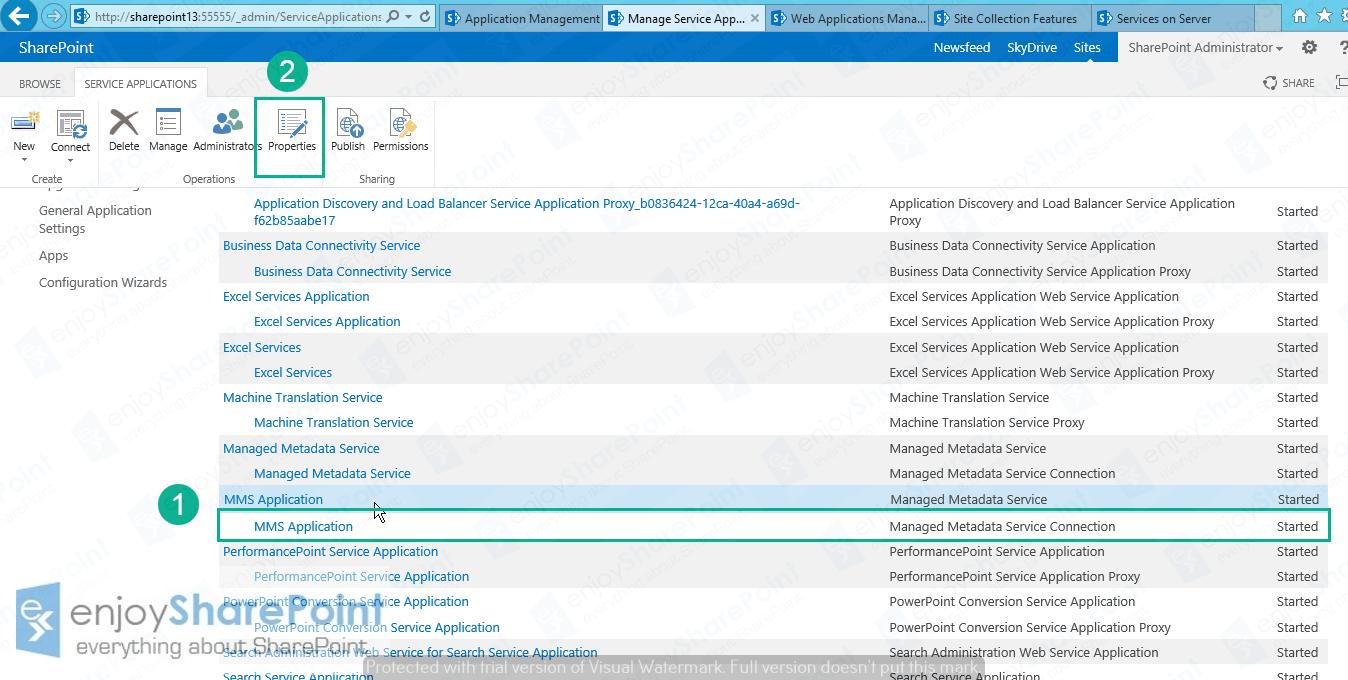 sharepoint 2016 content type hub