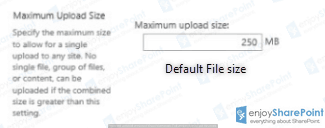 sharepoint max upload size