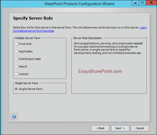 sharepoint server 2016 installation step by step