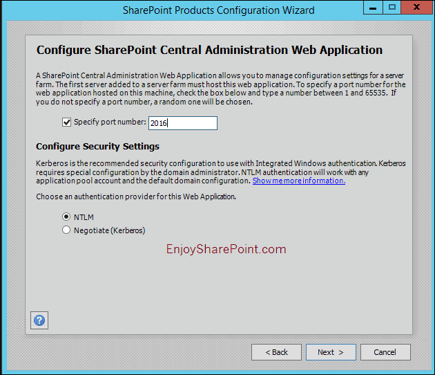 sharepoint server 2016 installation