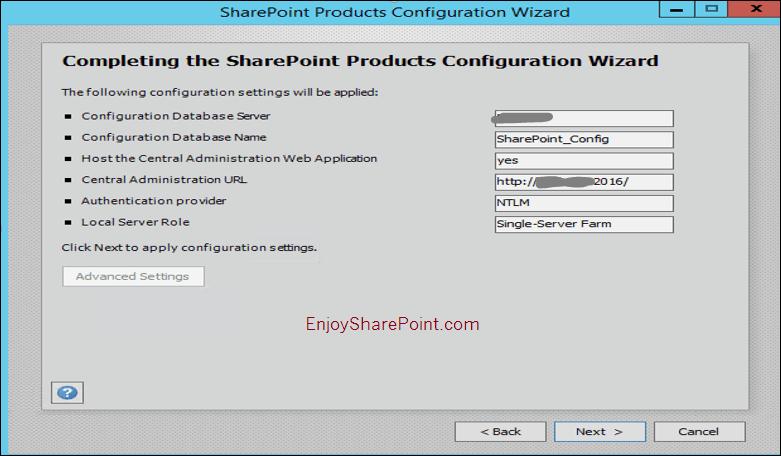 sharepoint server 2016 installation