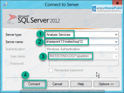 sql server analysis services 2012 install