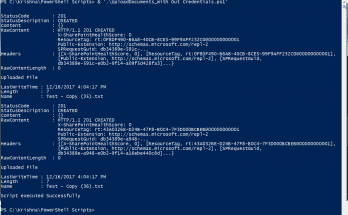 upload document using powershell remotely sharepoint with default account