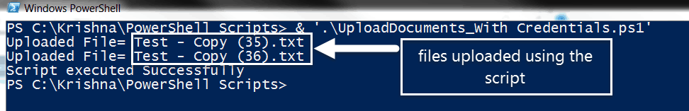 upload document using powershell remotely sharepoint