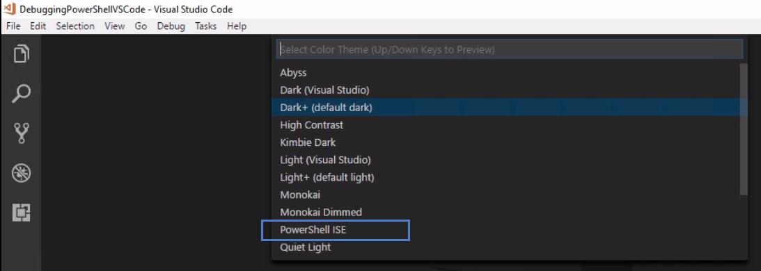 visual studio code powershell