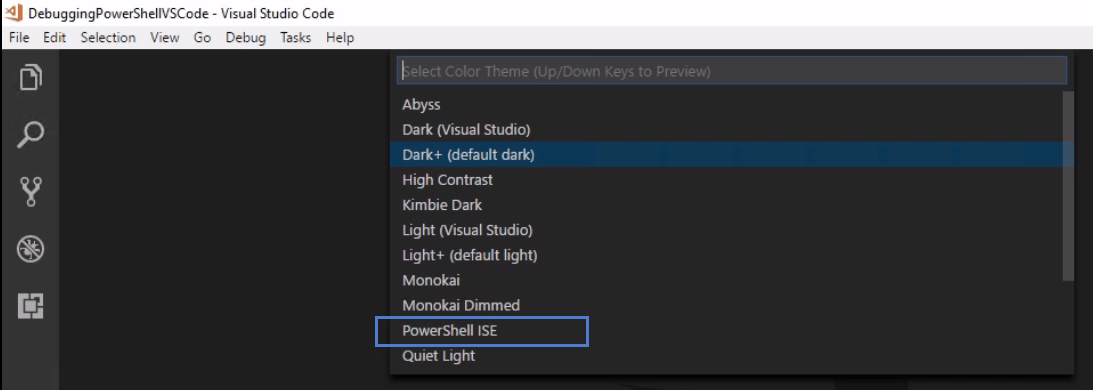 debug powershell script in visual studio code