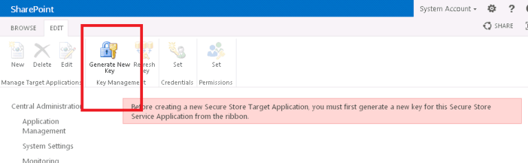 configure secure store service sharepoint 2019