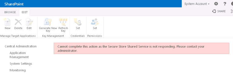 what is the use of secure store service sharepoint 2013