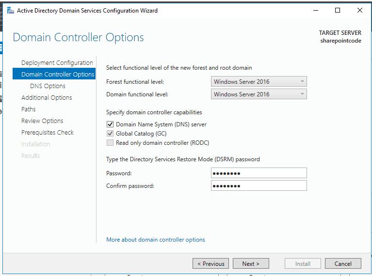 Active directory domain services windows server 2016 11