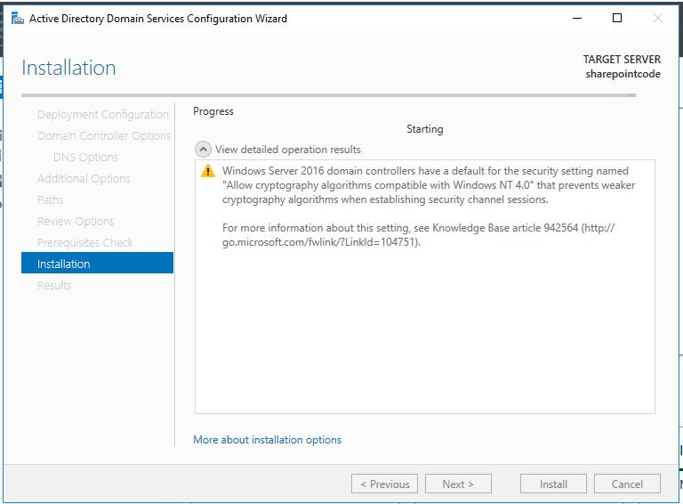 Active directory domain services windows server 2016 16
