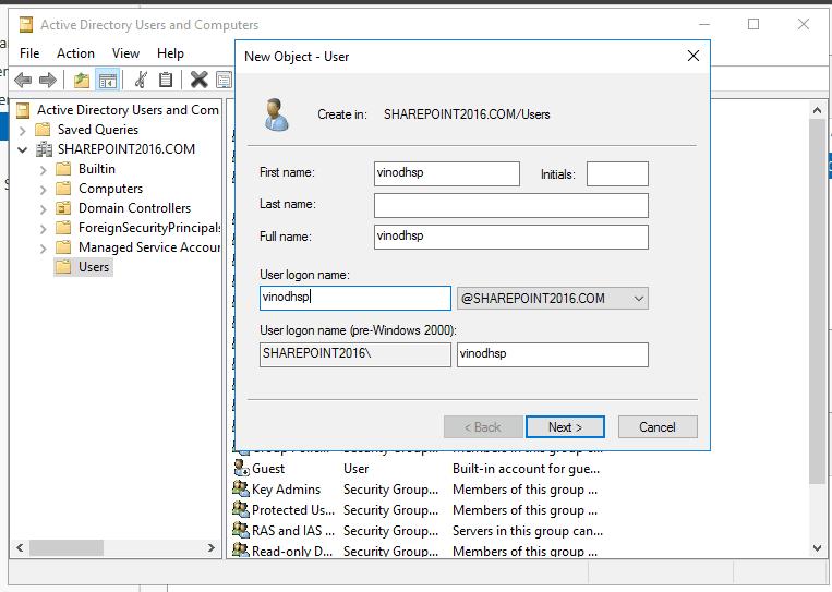 Active directory domain services windows server 2016 18