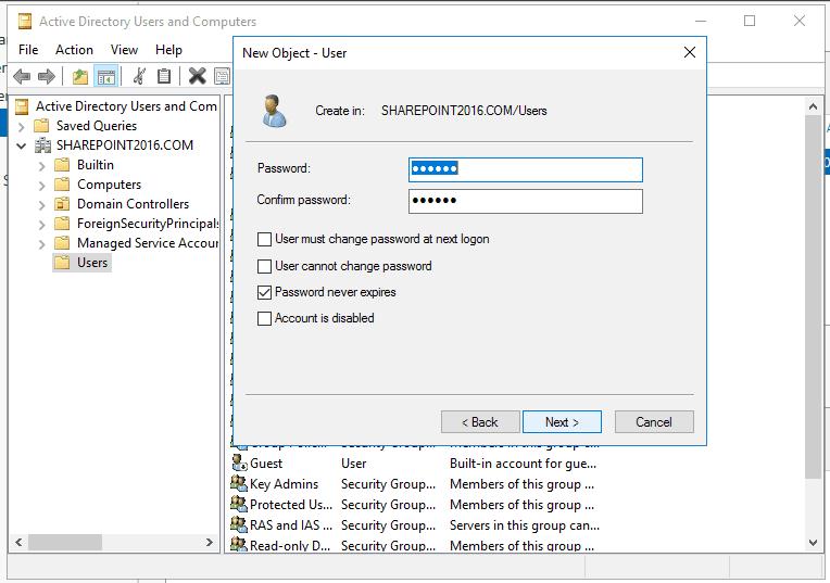 Active directory domain services windows server 2016 19