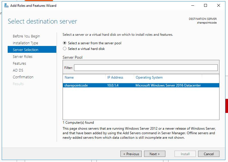 Active directory domain services windows server 2016 2