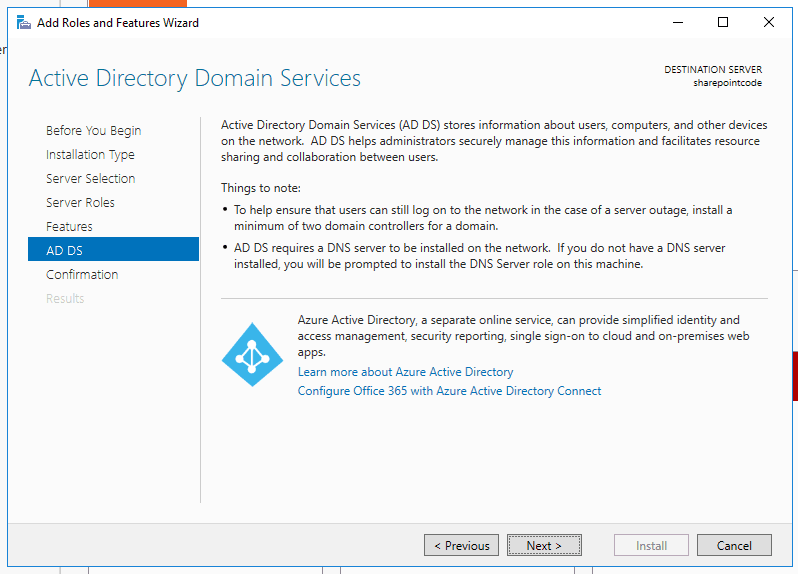 how to open active directory domain services configuration wizard