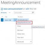 Add use custom action to list ECB menu in SharePoint Online using JavaScript object model