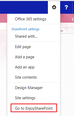 Add User Custom Actions (Site Actions Menu) Programmatically using JSOM in SharePoint Online