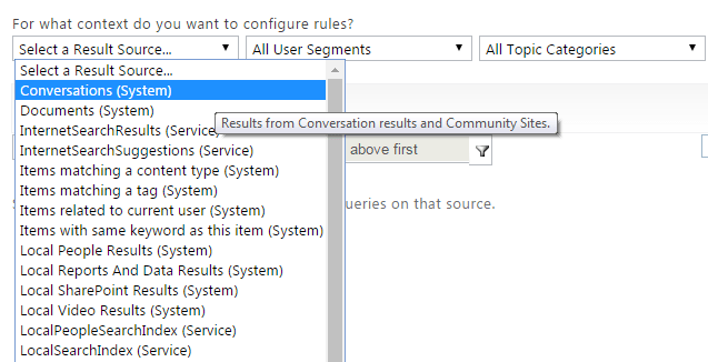 Configure Search Query Rule Office 365 SharePoint Online 2
