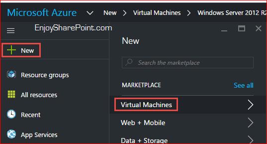 create virtual machine in azure