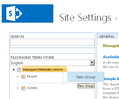 managed metadata service in sharepoint 2016