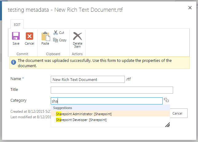 managed metadata service application sharepoint